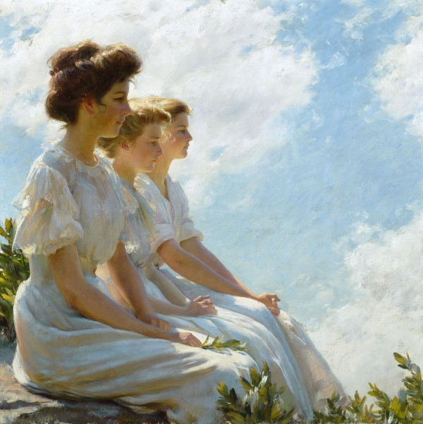 "Charles Courtney Curran ""On the Heights"" (1909)"